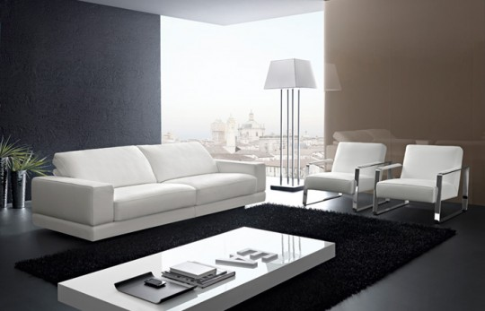 Salas modernas con muebles elegantes ideas para decorar for Muebles elegantes
