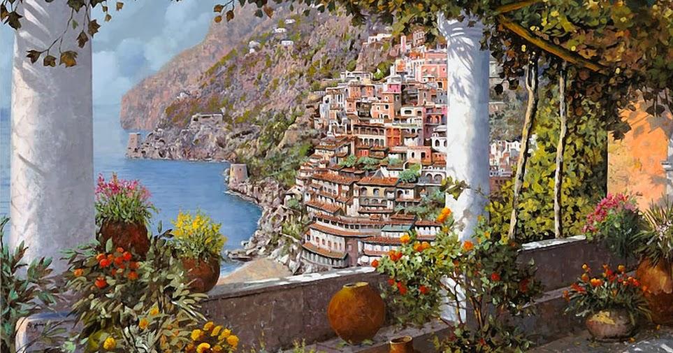 Cuadros modernos espectaculares paisajes pinturas al - Cuadros espectaculares modernos ...