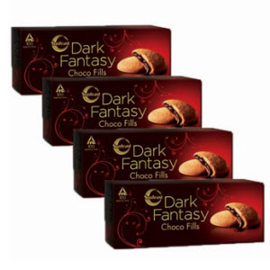 Buy Dark Fantasy Choco Fills Cookies get pack of 4 worth Rs.120 at Rs. 84