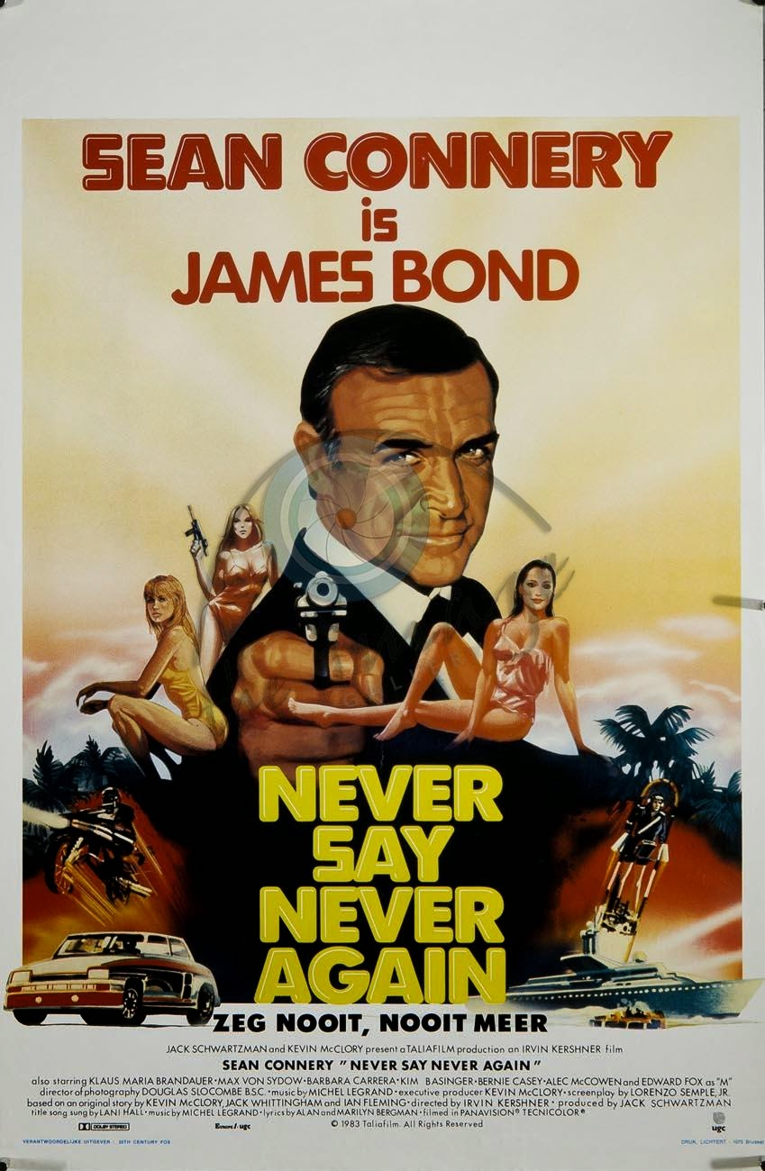 Never Say Never Again 1983 James Bond movie Sean Connery
