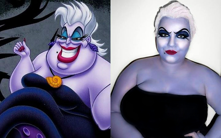 Ursula Halloween makeup, ursula makeup, halloween makeup, disney villain, shemightbeloved, georgina grogan