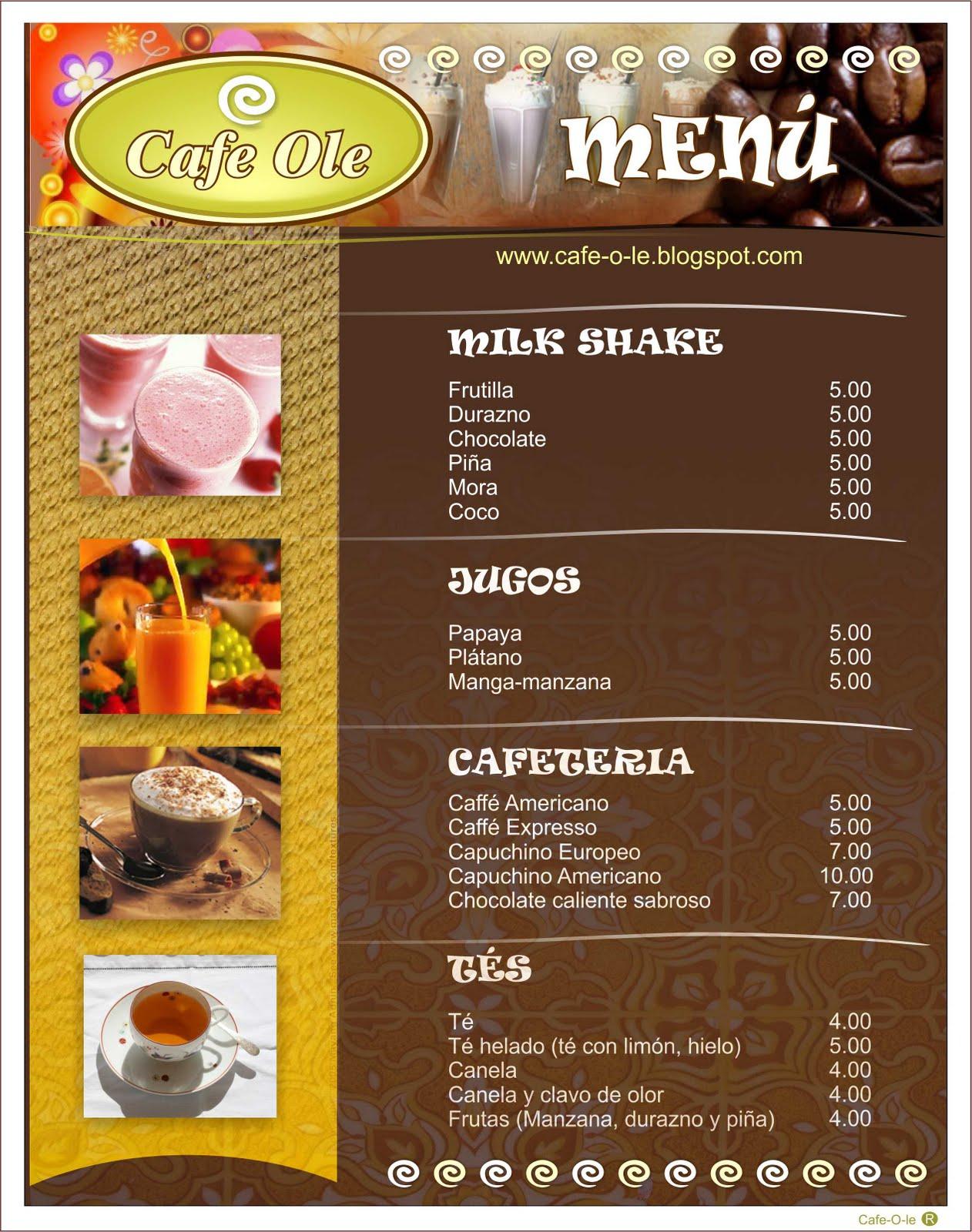 Cafe Ole Menu