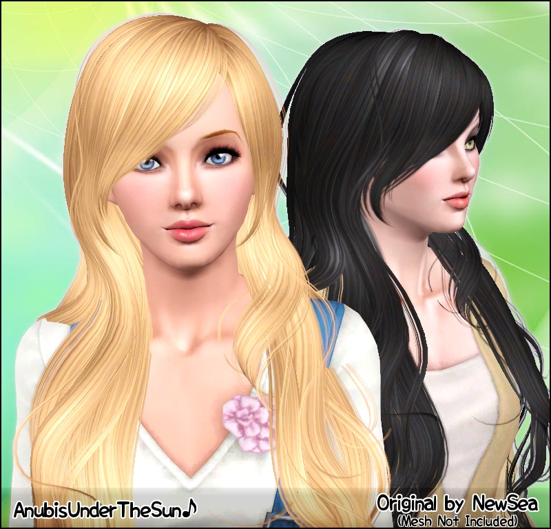 Anubis Sims Stuff Newseas Sailaway Female Hairstyle Pookletd