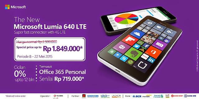 promo microsoft lumia 640 LTE Rp1.849.000