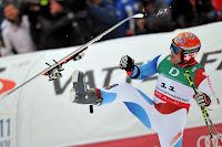 Cuche výkop lyže, ski kick