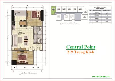 Căn hộ số 01 chung cư Central Point  - diện tích 69.7m2