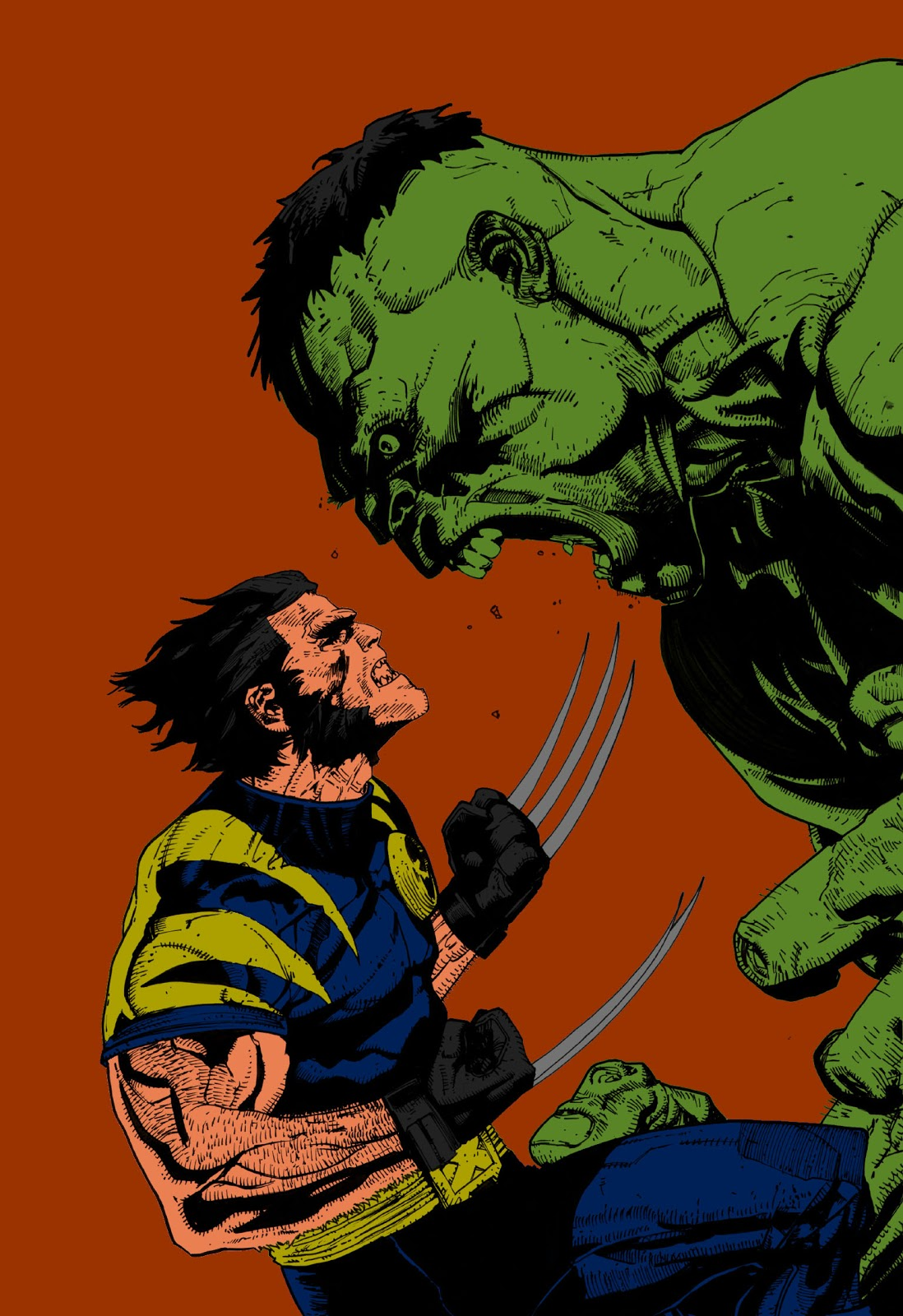 Cover of hulk vs wolverine plus a few photoshop filters at the end