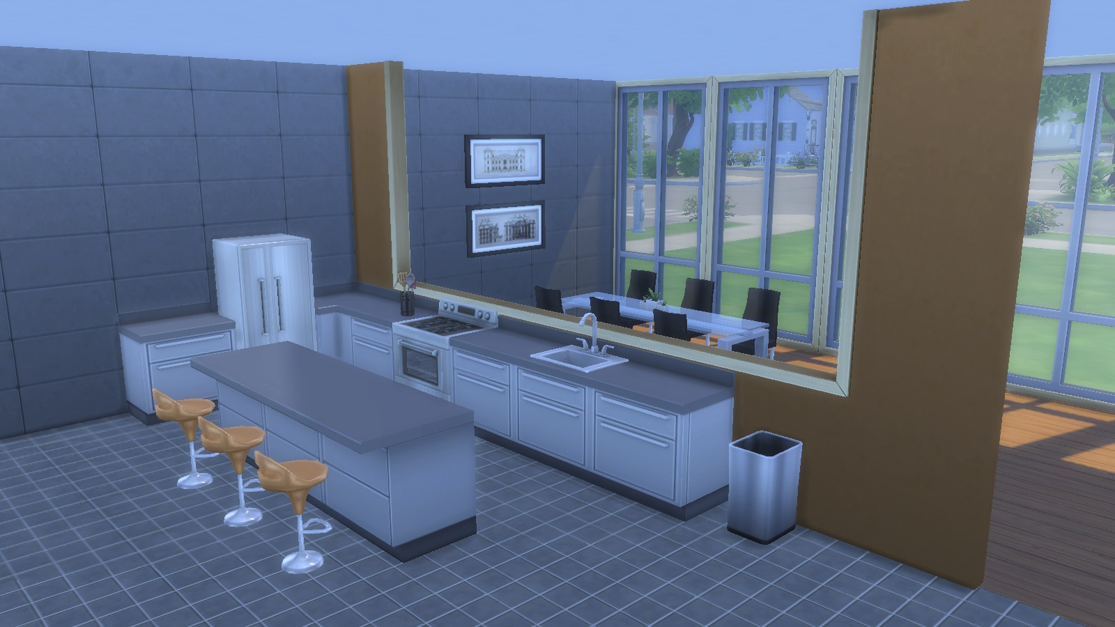Fake Windows For Walls : My sims faux half wall windows by chaggith