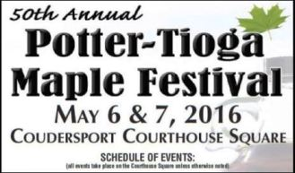 5-6/7 Potter-Tioga Maple Festival, Coudersport, PA