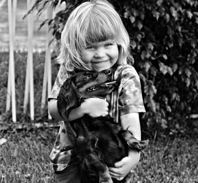 Child and His Dog Seen On www.coolpicturegallery.us
