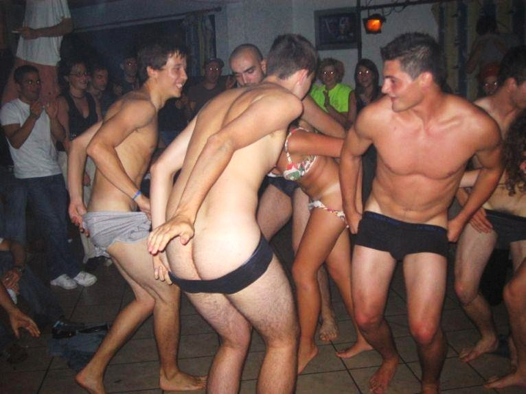 Performing Males Frat Boys Strip