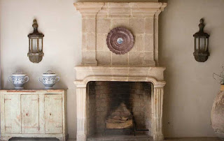 Antique Fireplace and Trumeau, image via Chateau Domingue as seen on linenandlavender.net