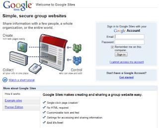 Kegunaan Google Site dan Pasang Google Site Di Blog