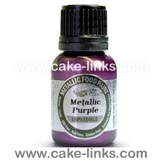Metallic Purple for cake decorating