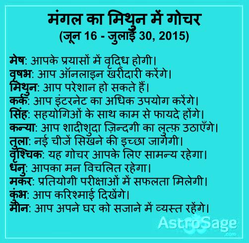 Mangal ke Mithun me Gochar se apki Jindagi me aayenge kai badlav
