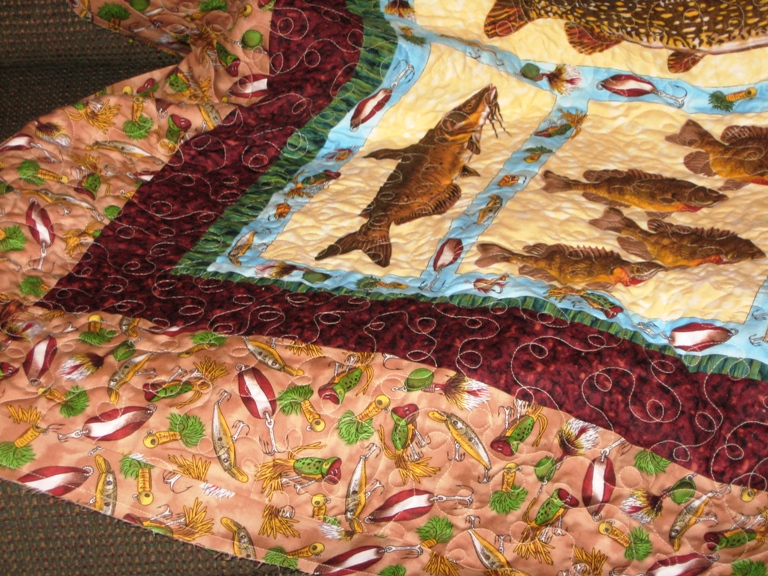 Stitchxstitch fishy fishy quilt for Fish fabric for quilting