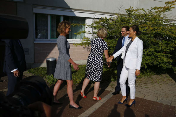 Crown Princess Victoria of Sweden and Prince Daniel of Sweden visited Swetox (Swedish Toxicology Sciences Research Center)
