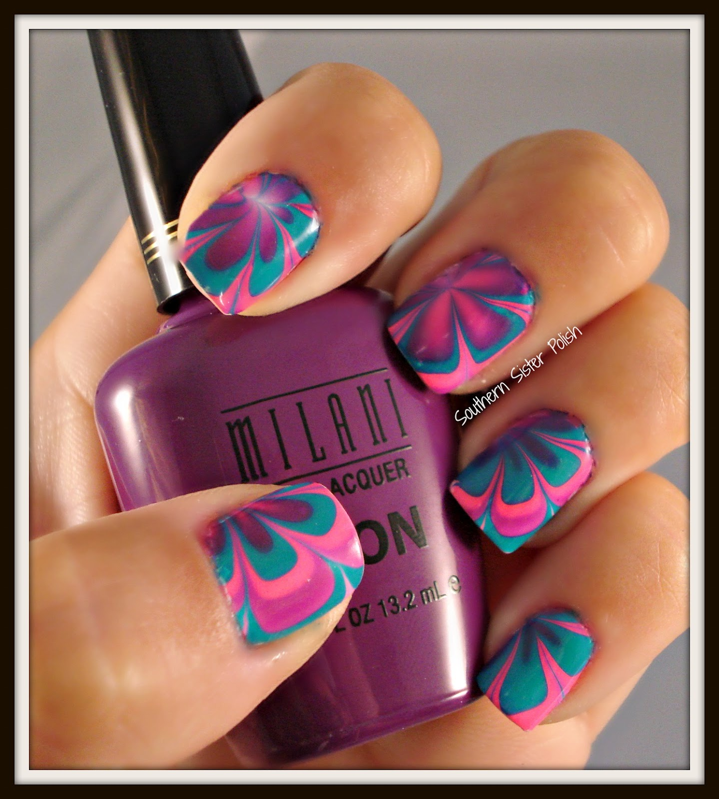 Southern Sister Polish Nail Art Wednesdaywater Marble
