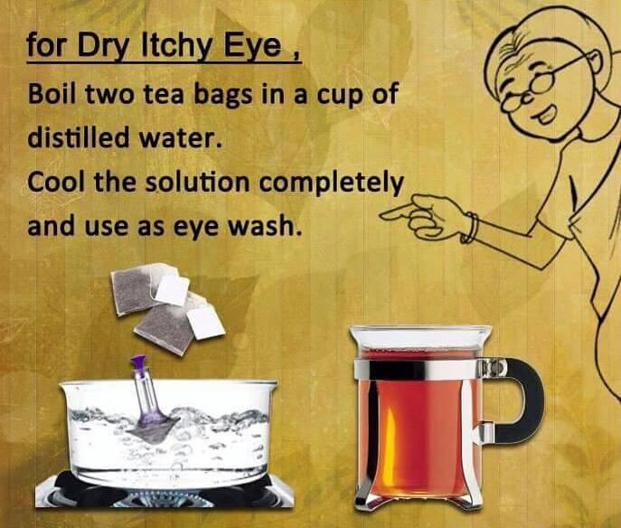 Dry itchy eye home remedy