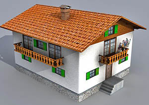 good house free maya and ma model download 3d animation