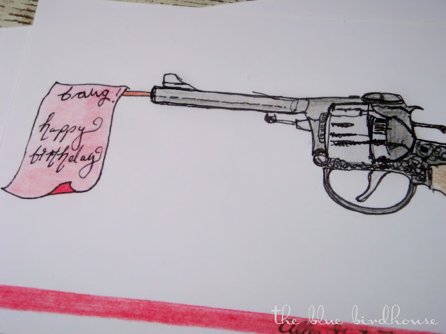 gun birthday card