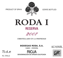 ETIQUETA RODA I RESERVA 2007