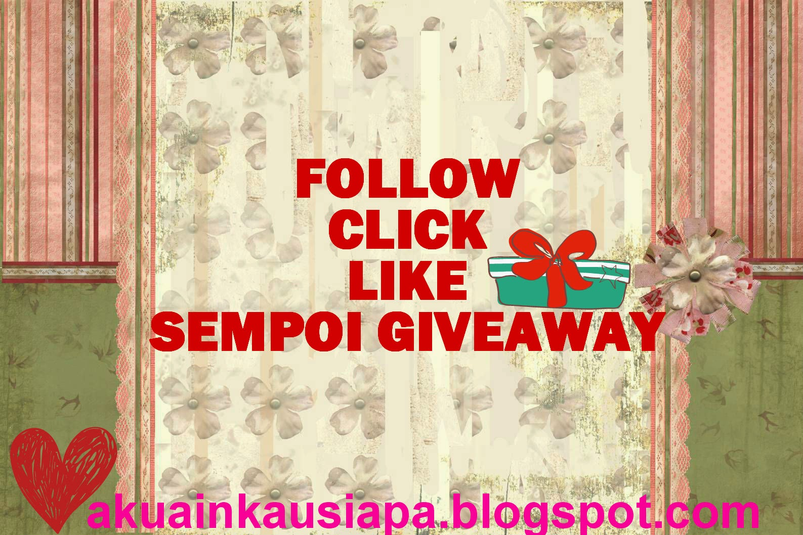 Follow Click Like Sempoi Giveaway