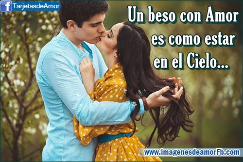 postales de parejas besandose con frases de amor