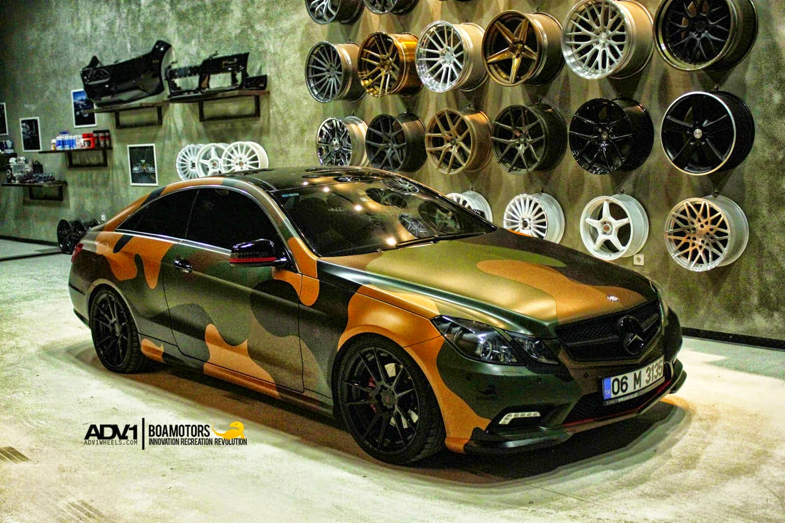 Mercedes benz w207 e class coupe on adv5 2mv2 wheels for Mercedes benz tuning