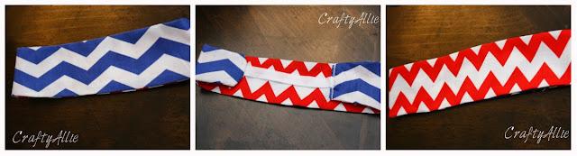 chevron fabric headband