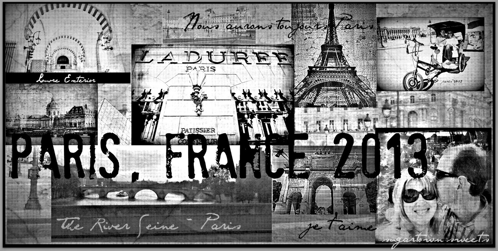 I Made This Collage From Some Of The Various Sites We Visited In Paris