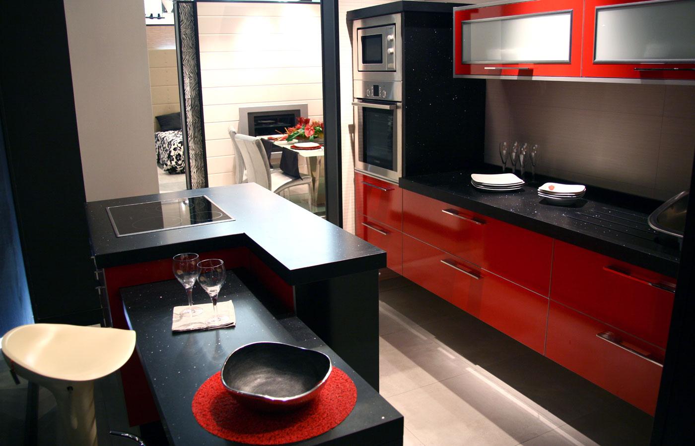 черно красной кухни фото дизайн