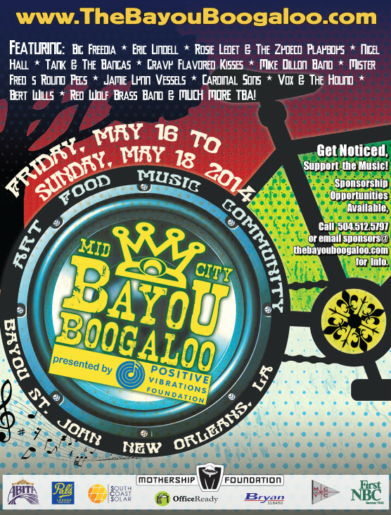 Mid-City Bayou Boogaloo Flyer