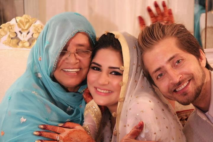 Sanam Baloch with Husband and her mother in Law - Pakistani ...
