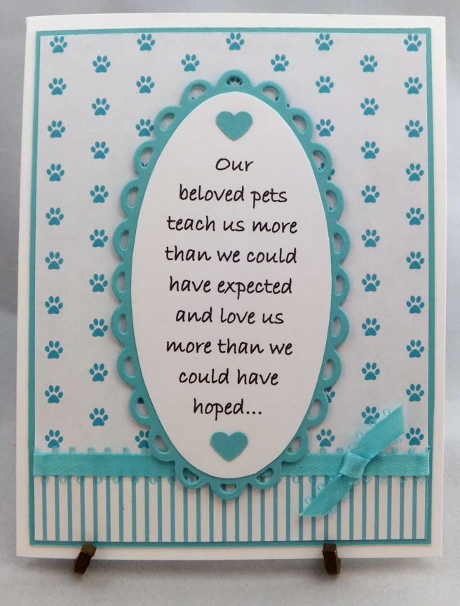 paper panacea sympathy card for loss of a pet