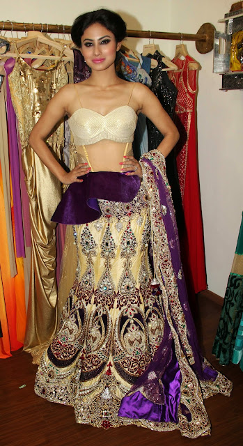 Mouni Roy hot in Rohit Verma Festive Collection