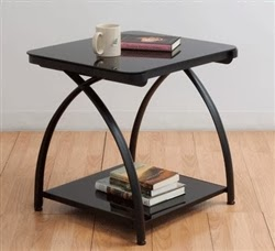 Calico Designs Futura Glass End Table
