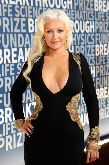 Actress, Singer @ Christina Aguilera - Breakthrough Prize Ceremony in Mountain View, CA