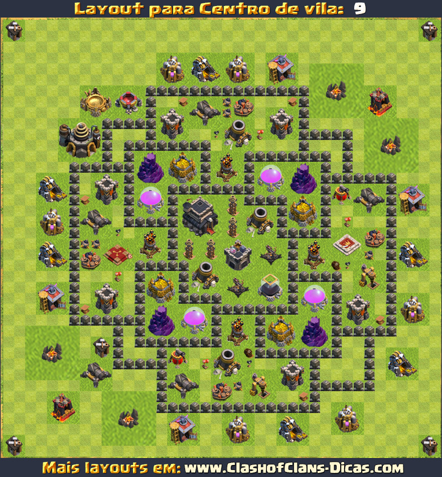 layouts de cv9 - clash of clans