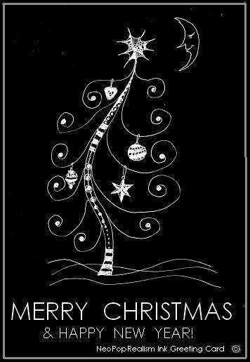 Merry Christmas Happy New Year Greeting Cards Neopoprealism