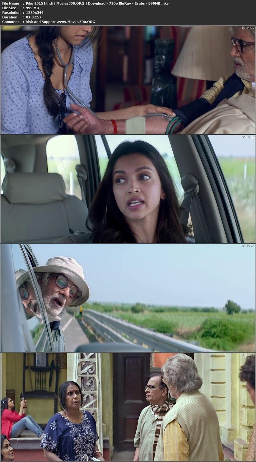 Piku 2015 Hindi Movie Download BluRay 720p 999MB ESubs at xcharge.net