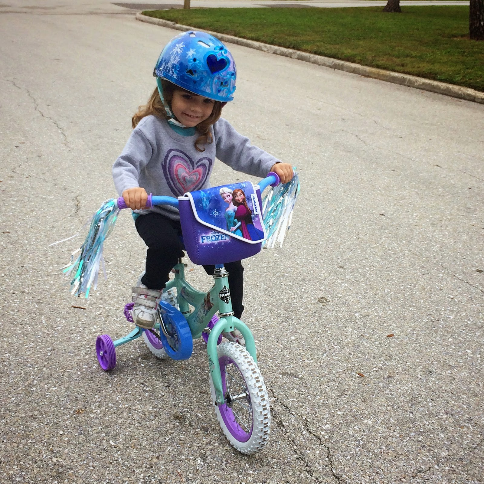 Barknknit Birthday Girl And Her New Frozen Bike