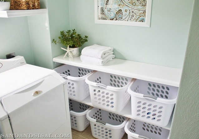 laundry basket organization station
