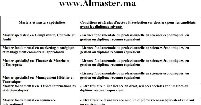 masters et masters sp u00e9cialis u00e9s 2015  2016  u00e0 la fsjes