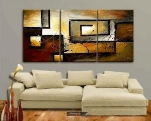 Hand Painted Modern Oil Painting on Canvas Wall Art Home Decoration