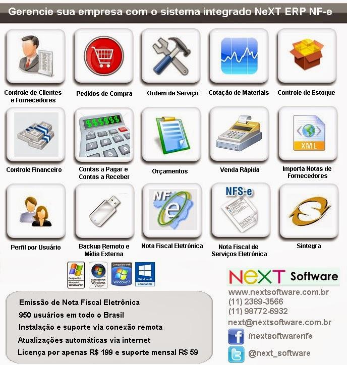 Gerencia sua empresa com o NeXT ERP NFe NFSe Plus