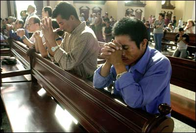 Image result for pray in church