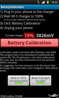 menu battery calibraton