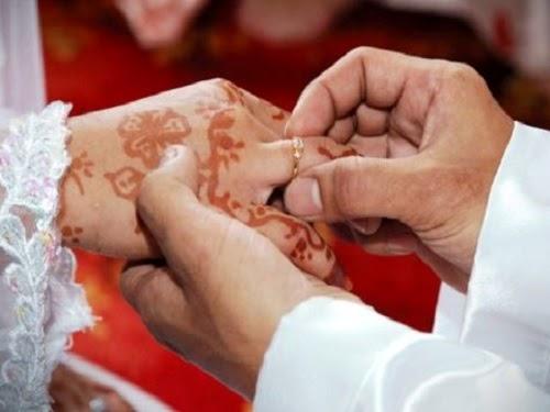 Mahar cincin pernikahan - ilustrasi