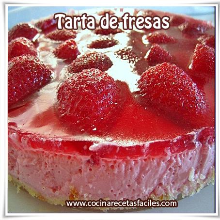Postres y helados,  receta de tarta de fresas